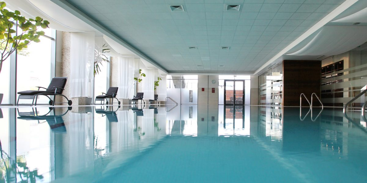 Plunge into the Crystal Clear 19m Indoor Pool